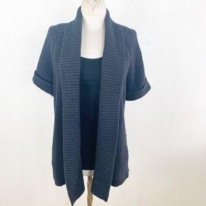 Ann Taylor Factory M Short Sleeve Open Cardigan